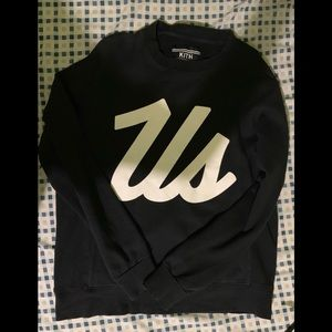 "Kith ""just us "" sweatshirt nyc crewneck"